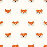 seamless cute fox pattern vector illustration