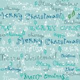 Seamless cute handwritten christmas text Royalty Free Stock Photography