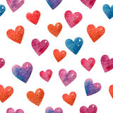 Seamless cute heart background Stock Photos