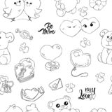 Seamless cute icon love vector pattern. Design print background image vector illustration