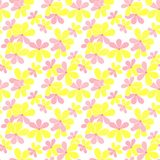 Seamless cute kide floral pattern on white. Background Stock Image