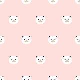 Seamless cute kitten pattern. Seamless pattern,cute kitten art  background design for fabric and decor Royalty Free Stock Photo