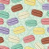 Seamless cute macaroon pattern Stock Photo