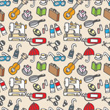 Seamless cute object pattern. Vector illustration Royalty Free Stock Photos
