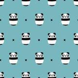 seamless cute panda pattern Stock Images