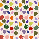 Seamless cute pattern with bright leaves Royalty Free Stock Photos