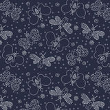 Seamless cute pattern butterflies Stock Images