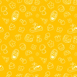 Seamless cute pattern for children. Royalty Free Stock Photos