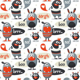 Seamless cute pattern made with monsters Stock Photo