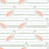 Seamless cute pattern. Stock Photography