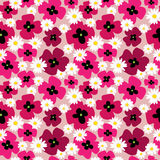 Seamless cute pattern with poppies and daisies. Seamless cute pattern with a poppies and daisies Stock Photo