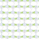 Seamless cute pattern with sheeps Stock Images