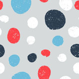 Seamless cute patterns - circles hatched lines by hand. Stock Image