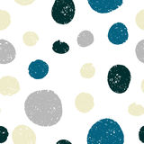 Seamless cute patterns - circles hatched lines by hand. Vector illustration Royalty Free Stock Photos