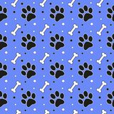Seamless cute paw pattern, endless background for wallpaper, cover, card and poster designs, textile and fabric prints royalty free illustration