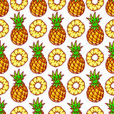Seamless cute pineapple Royalty Free Stock Photo
