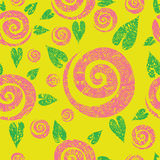 Seamless cute roses  pattern Stock Photography
