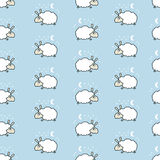Seamless cute sheep pattern. Royalty Free Stock Photos
