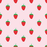 Seamless cute strawberry pattern Stock Photo