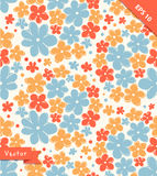 Seamless cute texture with flowers. Endless floral pattern. Stock Images