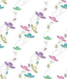 Seamless cute vector floral pattern design Stock Photo