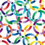 Seamless cuted circle pattern Royalty Free Stock Photography