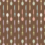 Seamless cutlery Stock Photo