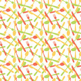 Seamless Cutlery Silverware Pattern Stock Image