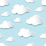 Seamless cutout clouds Stock Photography