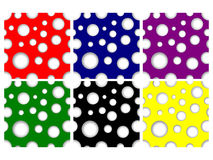 Seamless Cutout Dots Stock Images