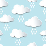 Seamless cutout rain clouds Royalty Free Stock Photo