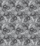 Seamless cycling pattern Stock Photo