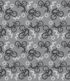 Seamless cycling pattern Stock Photo