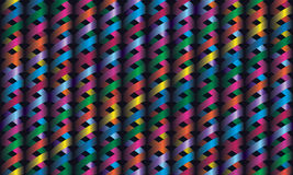 Seamless décor weaves bright ribbons. Volume effe Stock Images