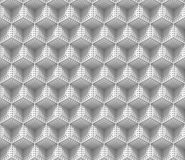 Seamless 3d background made of connected white cubes with rectangular dimples. Endless three-dimensional 3d background made of connected monochrome cubes with Stock Photography