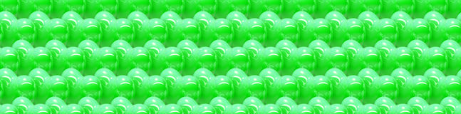 Seamless 3d background with shiny green hearts Stock Photography