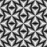 Seamless 3d Cross Pattern. Abstract Black and White Stripe Backg Stock Photos