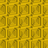 Seamless 3d cube maze pattern Royalty Free Stock Photos