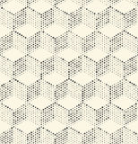 Seamless 3d Cube Pattern. Abstract Dots Background. Regular Hexagone Texture Royalty Free Stock Photo