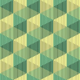 Seamless 3d Cube Pattern. Abstract Minimalistic Background. Vect Royalty Free Stock Photos