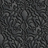 Seamless 3D Damask Pattern Royalty Free Stock Images