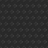 Seamless 3D elegant dark paper art pattern 266 Antique Cross Flower Royalty Free Stock Images