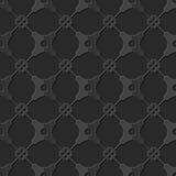 Seamless 3D elegant dark paper art pattern 187 Cross Polygon Flower Stock Images