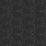 Seamless 3D elegant dark paper art pattern 319 Cross Polygon Geometry. Antique black paper art retro abstract seamless pattern background Royalty Free Stock Photo