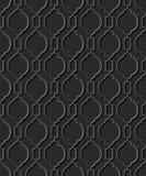Seamless 3D elegant dark paper art pattern 323 Curve Cross Round Royalty Free Stock Photos