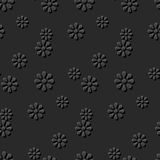Seamless 3D elegant dark paper art pattern 268 Daisy Round Flower Royalty Free Stock Images