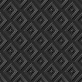 Seamless 3D elegant dark paper art pattern 372 Diamond Check Geometry. Antique paper art retro abstract seamless pattern background Stock Photo