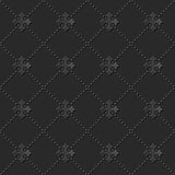 Seamless 3D elegant dark paper art pattern 102 Dot Cross Line. Antique black paper art retro abstract seamless pattern background Stock Photos