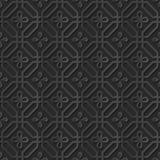 Seamless 3D elegant dark paper art pattern 294 Octagon Cross Flower Royalty Free Stock Photography