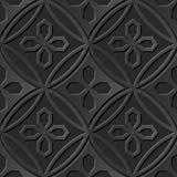 Seamless 3D elegant dark paper art pattern 295 Polygon Cross Flower Stock Images